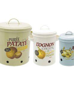 Opbevaringskrukker i retrostil og opbevaringsdåser