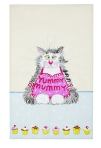 Viskestykke yummy mummy tea towel