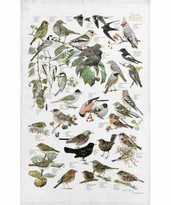økologisk viskestykke havens fugle