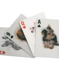 3d spillekort hunde kikkerland